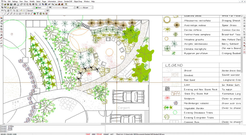 GardenCAD by Design CAD. Low cost easy-to-use landscape ...