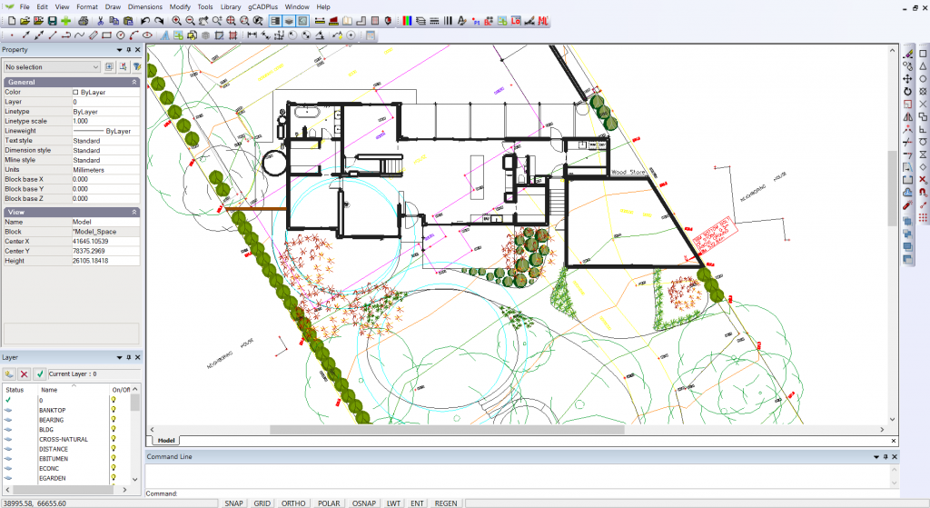 gCADPlus landscape design software