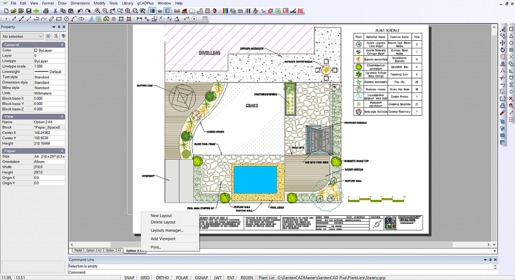Add viewport to layout