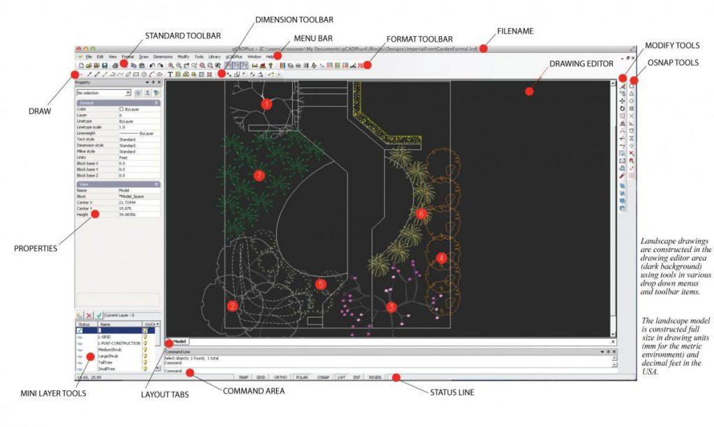 gCADPlus interface