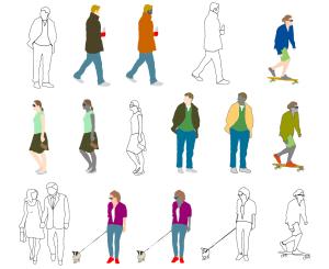 Human figure symbols