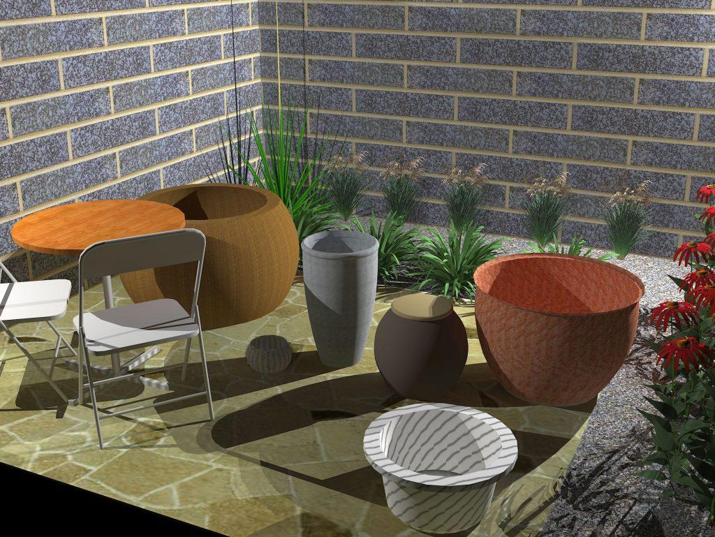 Model courtyard