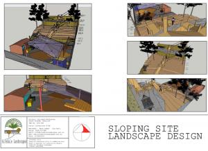 landscape design sloping site