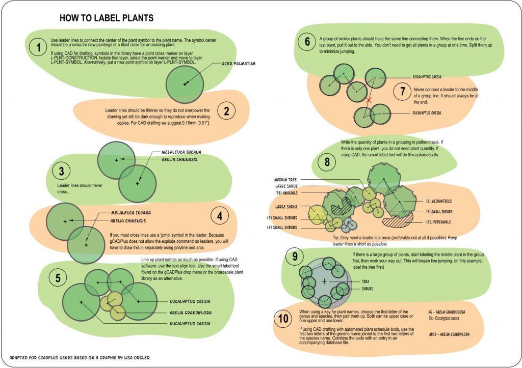 Labeling plant symbols
