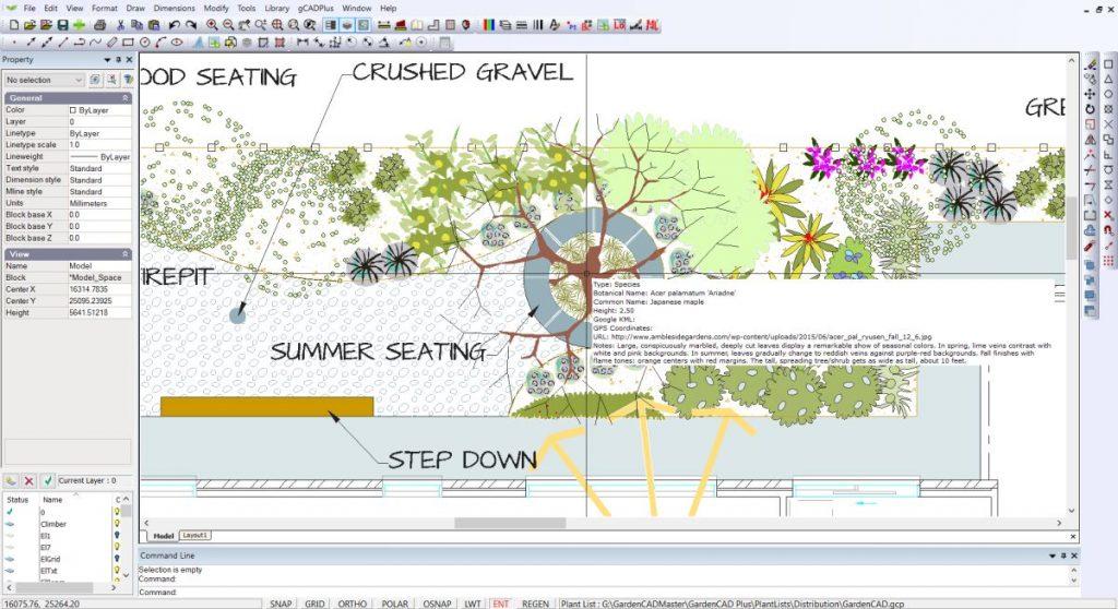 non-graphic information landscape plans